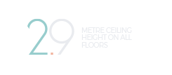 2.9 Metre Ceiling Height on all Floors